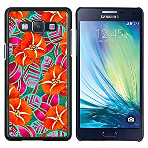 Stuss Case / Funda Carcasa protectora - Rayas Naranja Arte Dibujo - Samsung Galaxy A5 ( A5000 ) 2014 Version