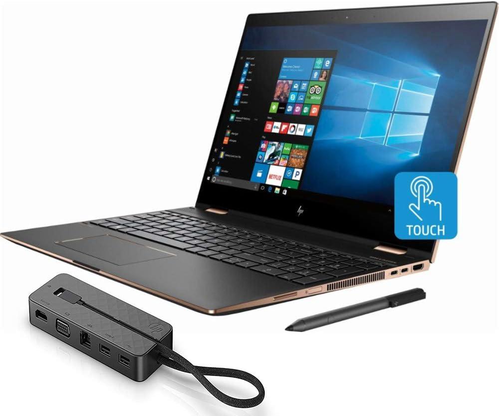 Mobile Advance 2018 HP Spectre x360 15-CH011DX 4K IPS 2-in-1 Touch Screen Laptop - Intel Core i7-8550U NVIDIA GeForce MX150 512GB SSD 16GB RAM + HP Stylus Pen, USB Dock (Renewed)