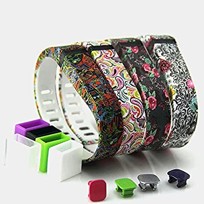 2015 Latest Band Set For Fitbit Flex, Replacement bands Set, Newest Layout, Water Transfer Printing Set With Metal Clasps for Fitbit Flex Activity Tracker(Large)