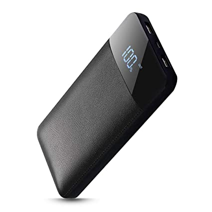 Bosta portatil Cargador Móvil Portátil Batería Externa 20000mAh Cargador Inalámbrico Rápido Power Bank y Entrada Doble Portátil Wireless Charger para ...