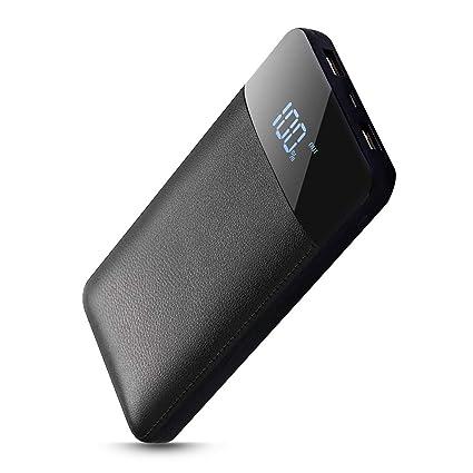 Bosta portatil Cargador Móvil Portátil Batería Externa 20000mAh Cargador Inalámbrico Rápido Power Bank y Entrada Doble Portátil Wireless Charger ...
