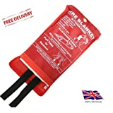 FIRE BLANKET COMMERCIAL RESTAURANT OFFICE KITCHEN SAFETY QUICK REALEAS 1M x 1M