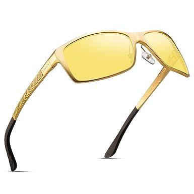 274a004898 Amazon.com  Soxick Night Driving Polarized Glasses for Men Women Anti Glare  Rainy Safe HD Night Vision HOT Fashion Sunglasses  Clothing