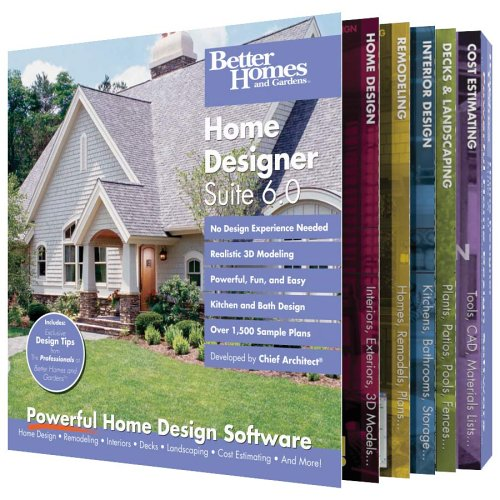 Amazon.com: Better Homes And Gardens Home Designer Suite 6.0 [OLD VERSION]:  Software