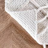 nuLOOM Jinny Trellis Wool Rug, 5' x 8', Ivory