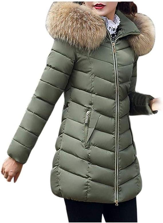 Femme Manteau Hiver Chaud Veste à Capuche Epaisse Doudoune