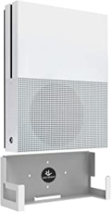 Monzlteck Wall Mount For Xbox One S ,Near Or Behind TV.Minimal Design,Easy to Install(White)
