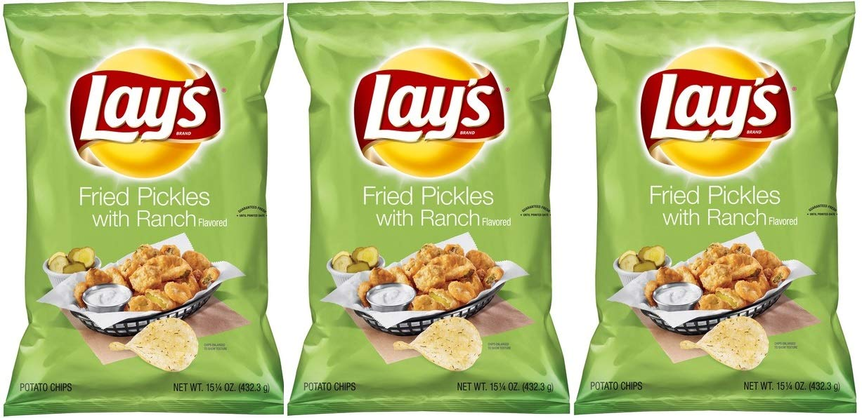 Lay's Fried Pickles With Ranch Flavored - 3 Bags by Frito Lay
