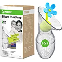 Haakaa Breast Pump with Flower Stopper Set