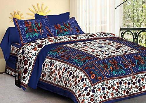 Buy Feb Bed Sheets Collection Cotton Queen Mandala Quilt Cover Donna Cover With Zipper Closure Ombre Duvet Cover With 2 Pillow Covers Blue Fab Bed 20 Online At Low Prices In India