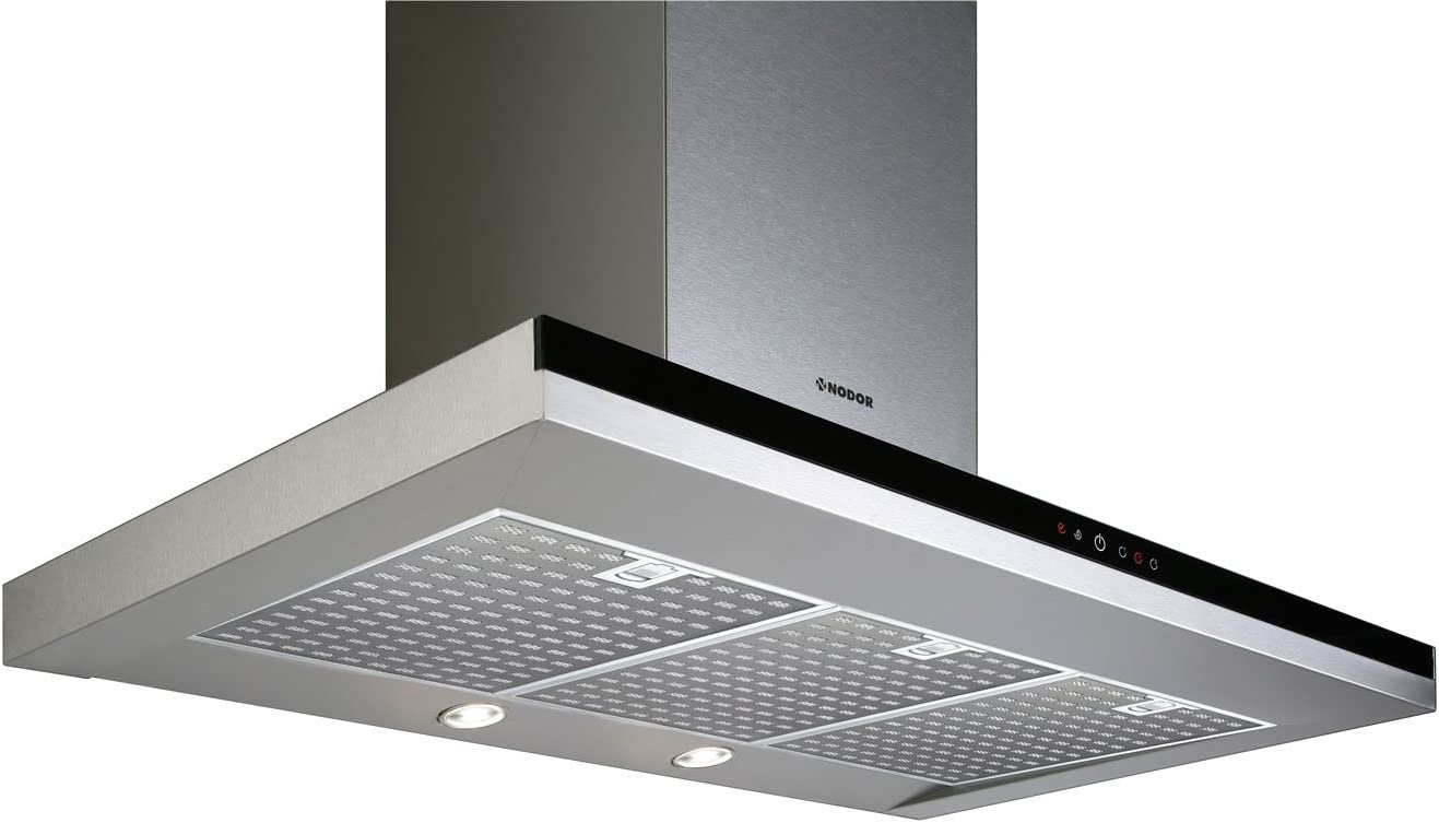 Nodor Mirage - Campana (Metal, 3 piezas, 900 mm, 500 mm, 635 mm, LED) Negro, Acero inoxidable: 237.39: Amazon.es: Grandes electrodomésticos