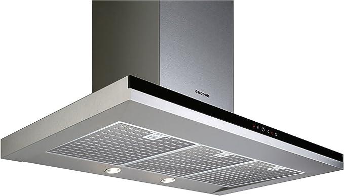 Nodor Mirage - Campana (Metal, 3 piezas, 900 mm, 500 mm, 635 mm, LED) Negro, Acero inoxidable: 237.39: Amazon.es: Grandes electrodomésticos