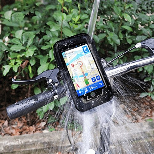Waterproof Bike Mobile Holder Phone Case Mount Motorcycle Handlebar Bicycle Cell Mobile GPS Cycling Cellphone Universal Handle for Iphone 7 7 Plus (Iphone 7)