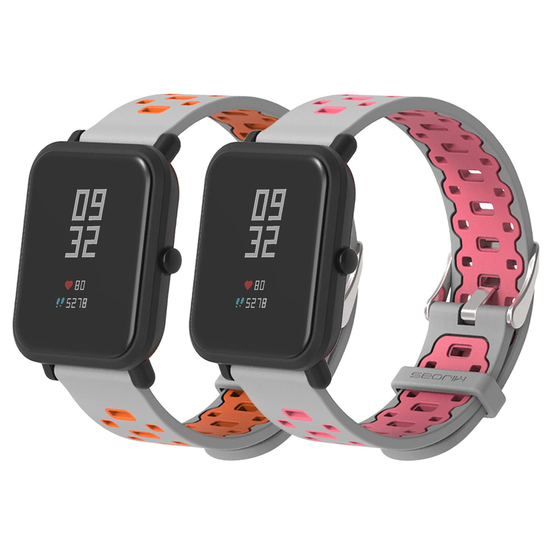 SenMore Correa para Xiaomi Amazfit Bip Younth - 20mm Silicona Pulsera Impermeable Correas de Repuesto para Galaxy Watch 42mm, Gear S2 Classic, Huawei ...
