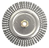 Weiler 79800 Dually Root Pass Weld Cleaning Brush, 7'', 0.20'' Steel Wire Fill, 5/8''-11 UNC Double-Hex Nut (Pack of 5)