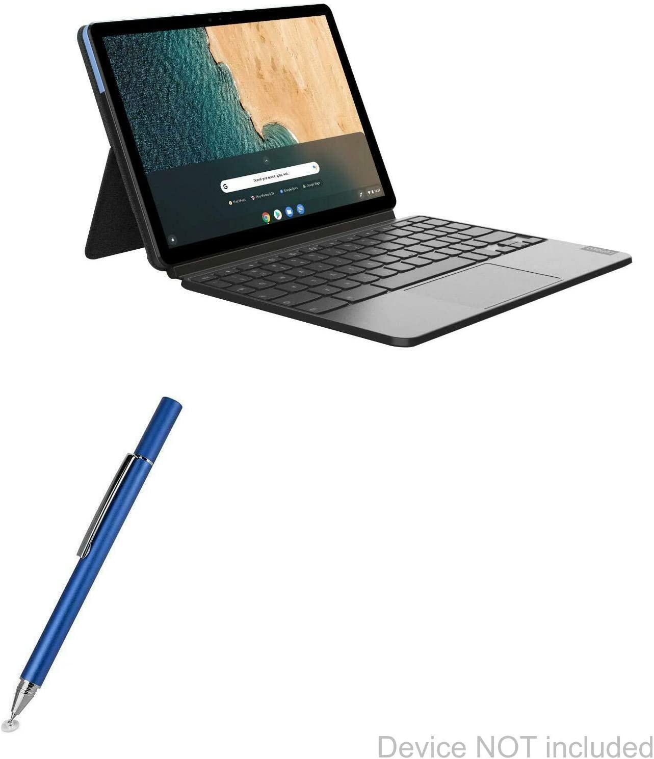 Lenovo Chromebook Duet Stylus Pen, BoxWave [FineTouch Capacitive Stylus] Super Precise Stylus Pen for Lenovo Chromebook Duet - Lunar Blue