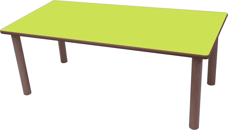Mobeduc Mesa Infantil Rectangular 120x80 cm, Verde Manzana, 120 x ...