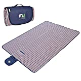 Outdoor Blanket Large Waterproof Outdoor Blanket by MIUCOLOR, Sandproof Picnic Blanket for Camping Hiking Grass Travelling - Single-deck Streak -Dual layers