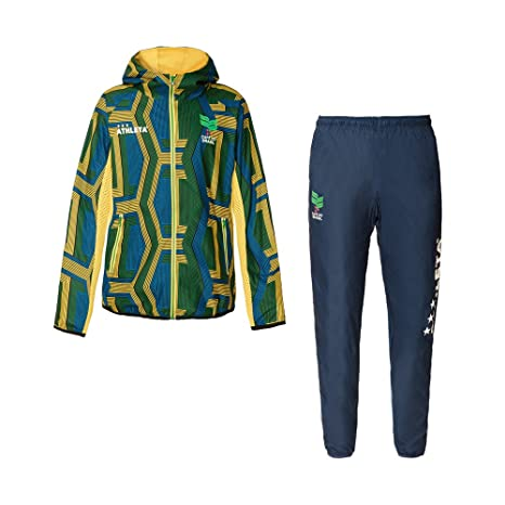 04115J/04116J ATHLETA サッカー パンツ ストレッチトレーニングジャケット/ 上下セット ジュニア フットサルウェア (アスレタ)