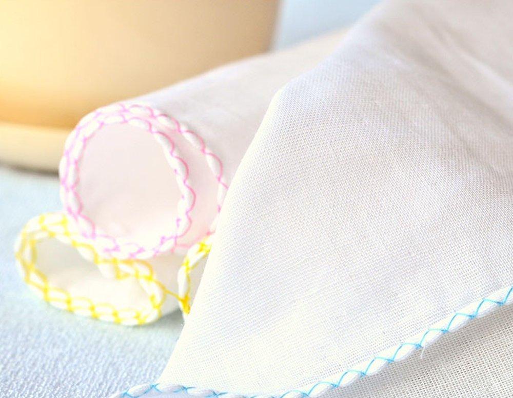Dealglad® 10 pcs/lot 100% gasa doble gasa pañuelo toallas de bebé recién nacido de alimentación de los lactantes toalla de saliva toalla de enfermería (los ...