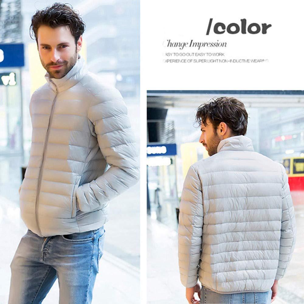 YQHDT Hiver Hommes Doudoune élégant mâle vers Le Bas Manteau Chaud Homme vêtements Hommes Parka Grande Taille gray jacket
