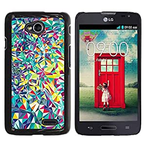 Be Good Phone Accessory // Dura Cáscara cubierta Protectora Caso Carcasa Funda de Protección para LG Optimus L70 / LS620 / D325 / MS323 // Detailed Fine Shapes Shattered