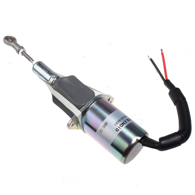 Holdwell Fuel Injection Control Fuel Shutoff Solenoid 1821019C91 12V for Navistar