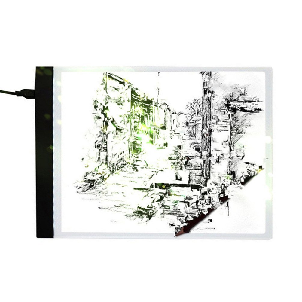 LED Light Box Artist Thin Art Stencil Board Tracing Drawing Board Plat LED Drawing Board USB Powered A4 Copy Station Oyanihin