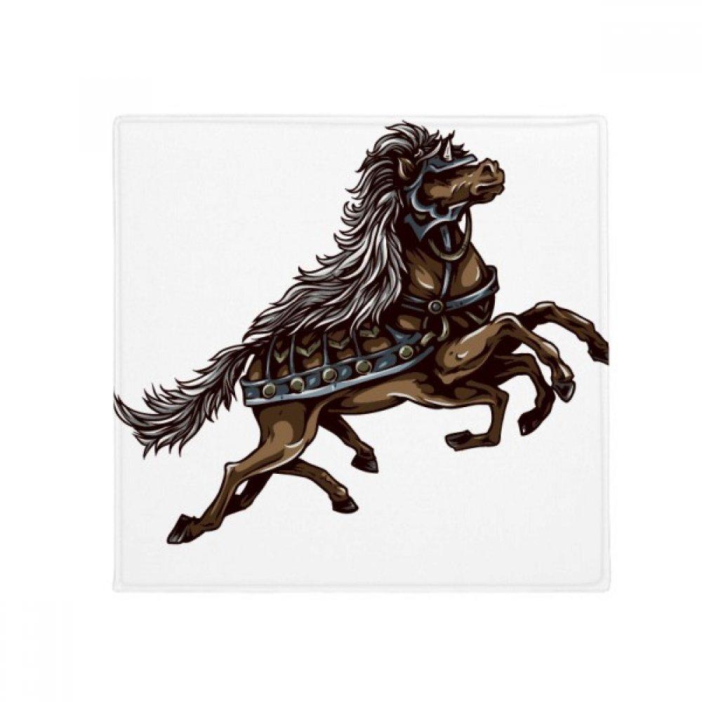 DIYthinker Running Horse Armor Animal Art Grain Anti-Slip Floor Pet Mat Square Home Kitchen Door 80Cm Gift