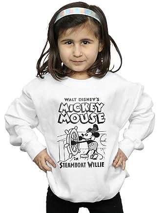 Disney Niñas Mickey Mouse Steamboat Willie Camisa De Entrenamiento: Amazon.es: Ropa y accesorios