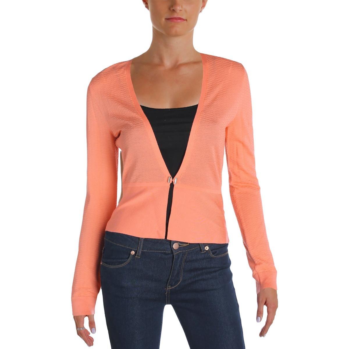 Hugo Boss Boss Womens Feline Virgin Wool Toggle Front Cardigan Top Pink M