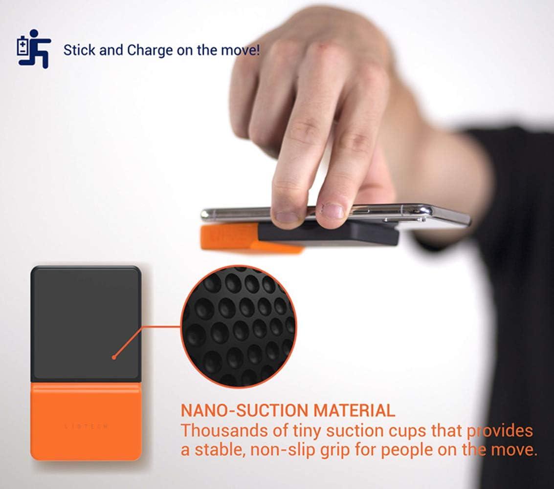 LHY FAN Caricatore Wireless,Caricabatterie Wireless Rapida Caricabatterie a Induzione per iPhone XS/XS Max/XR/X /8/8 Plus, Galaxy S10 /S9 /S9 + /S8 /S8 + /Nota 8,Orange Orange