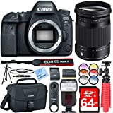 Canon EOS 6D Mark II 26.2MP DSLR Camera with Sigma 18-300mm F3.5-6.3 DC Contemporary Lens, Pro Bag, Wireless Remote Plus 64GB Filter Bundle