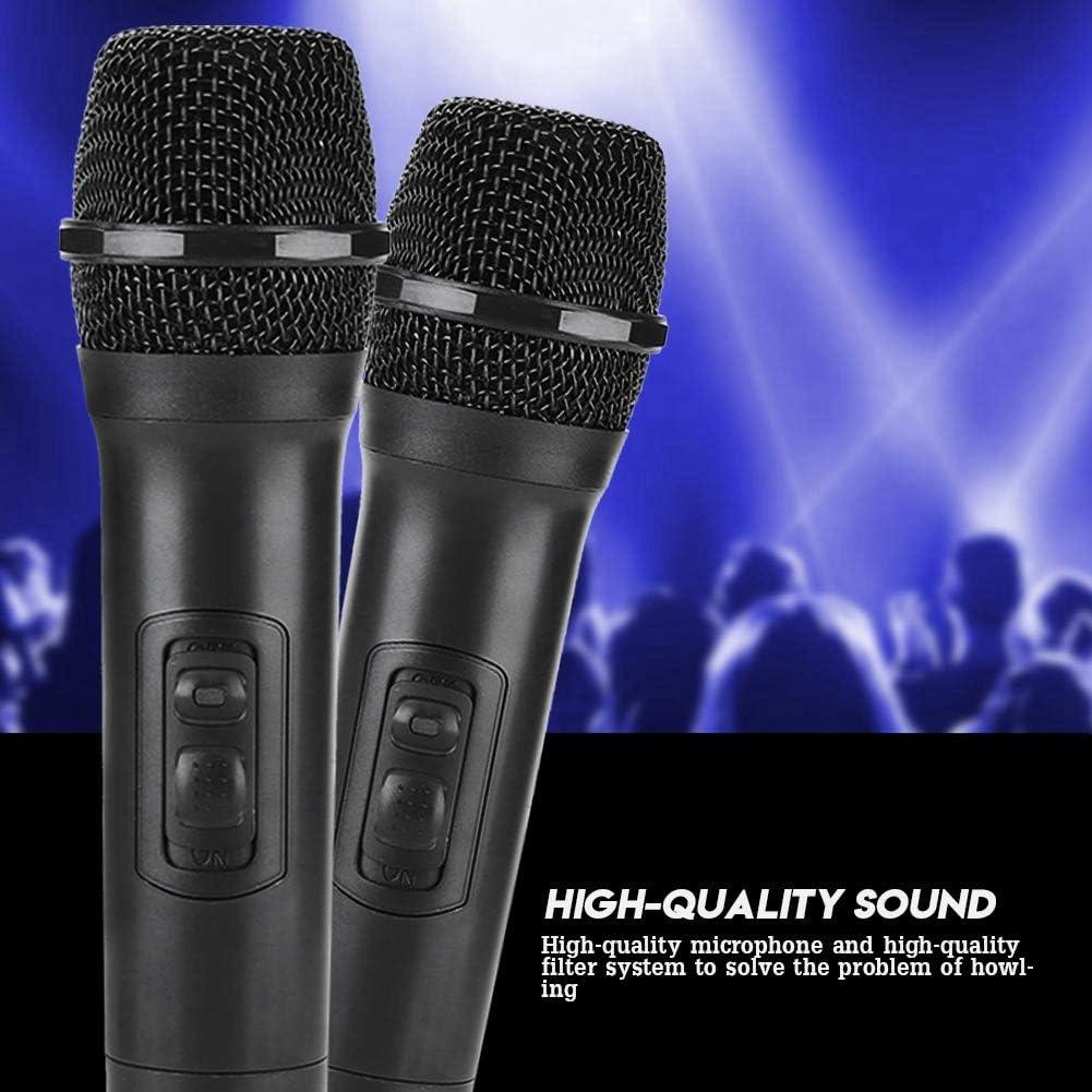 Tosuny Micr/ófono de Mano inal/ámbrico Negro micr/ófono Universal VHF Micr/ófono inal/ámbrico Comunicaci/ón Clara con Receptor//Antena para Karaoke//Reuni/ón de Negocios