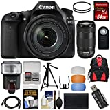 Canon EOS 80D Wi-Fi Digital SLR Camera & EF-S 18-135mm IS with 70-300mm IS USM Lens + 64GB Card + Battery + Backpack + Filters + Tripod + Flash Kit
