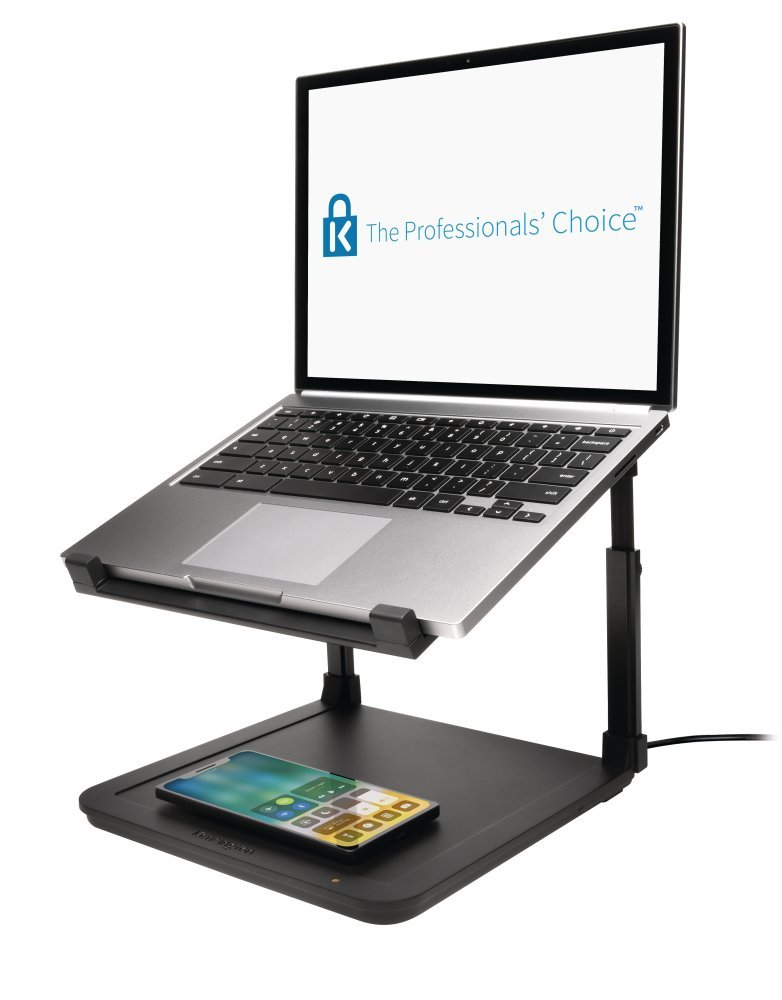 Kensington SmartFit Ergonomic Laptop Riser for up to 15.6-Inch Laptops with Qi Wireless Phone Charging Pad