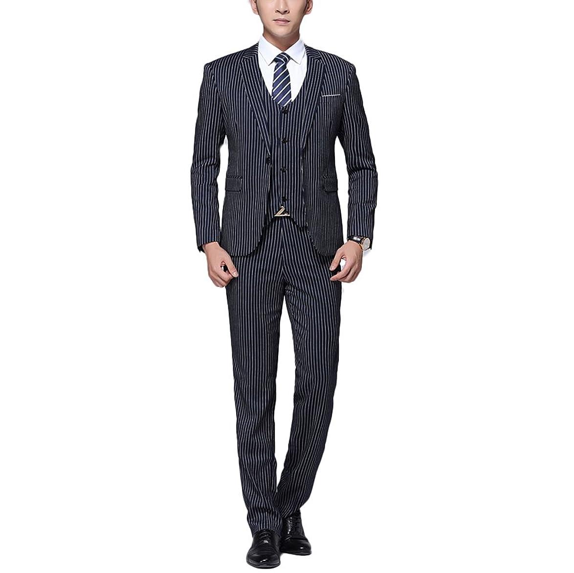 アルプス資格ボアWEEN CHARM スーツメンズ スリーピース スーツ 上下セット 2つボタン 一つボタン ビジネススーツ スリム スーツ カジュアル 着心地良い 礼服 結婚式 就職スーツ オールシーズン シンプルデザイン 無地 パーティー スーツ