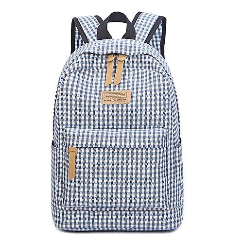 - IBFUN Backpack Girls Women Canvas School Backpack Bookbags College Bags Daypack Blue