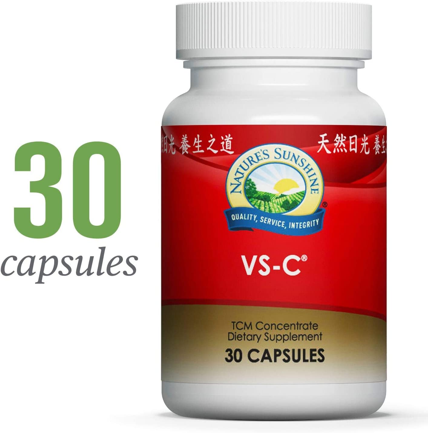 Nature s Sunshine VS-C TCM Concentrate, 30 Capsules Natural Immune System Booster Fights Off Biological Stressors Using The Best of Chinese and Western Herbs