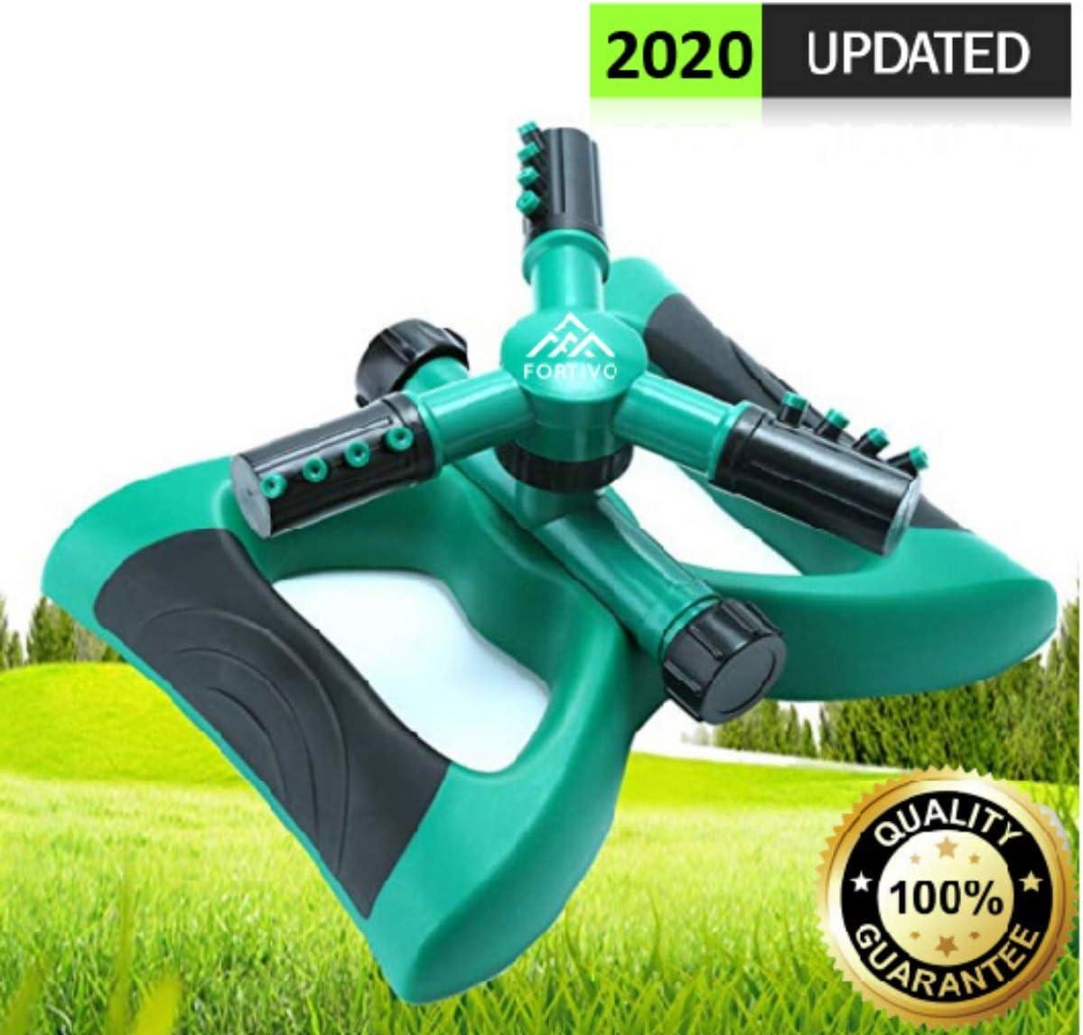 Lawn Sprinkler Garden Sprinkler -2020 Updated, Automatic 360 Rotating Adjustable Large Area, Water Sprinkler for Kids Yard Irrigation System Oscillating Sprinkler Watering Sprayer Easy Hose Connection : Garden & Outdoor