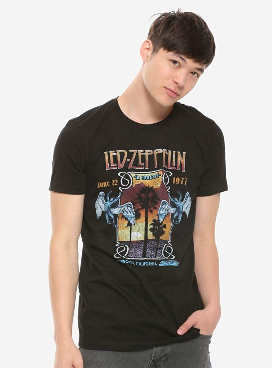 Led Zeppelin 1977 Live in Concert T-Shirt Black XL