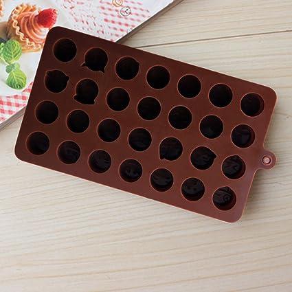Molde para Chocolate Emoji Jelly Candy Sugar de repostería de silicona Moldes DIY Funny