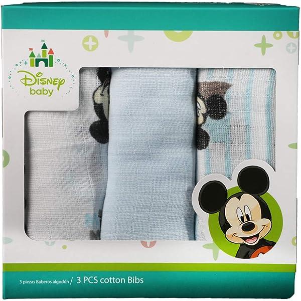 paquete unidades Cuadrado reci/én nacido gasa Algod/ón Estampado Disney Daisy