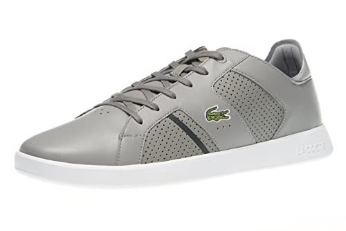 e8bb41fb9aa5c Lacoste Zapatillas de Skateboarding de Piel Lisa Para Hombre Gris Gris