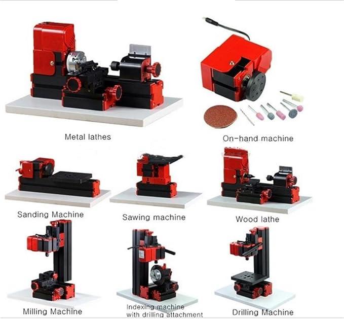 UniqStore mini torno 8 funciones Mini máquina multiuso de madera ...