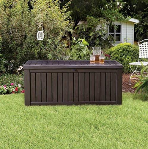 Home Storage Solutions, Resin Wicker Deck Box,Patio Cushi...