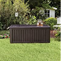 Home Storage Solutions, Resin Wicker Deck Box,Patio Cushion Storage And Garden Tools Organizer