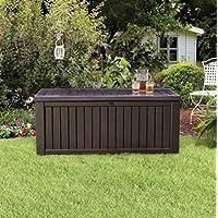 Home Storage Solutions, Resin Wicker Deck Box,Patio Cushion Storage And Garden Tools Organizer