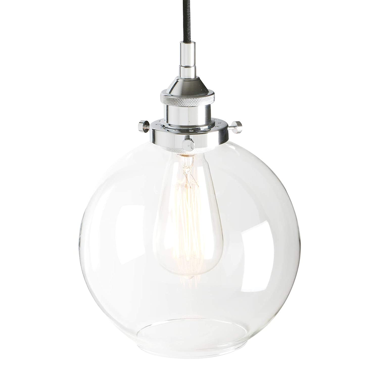 Pathson 7 9 industrial vintage modern hanging ceiling light loft bar kitchen pendant light fixture chandelier decorative lightingglobe clear glass lamp