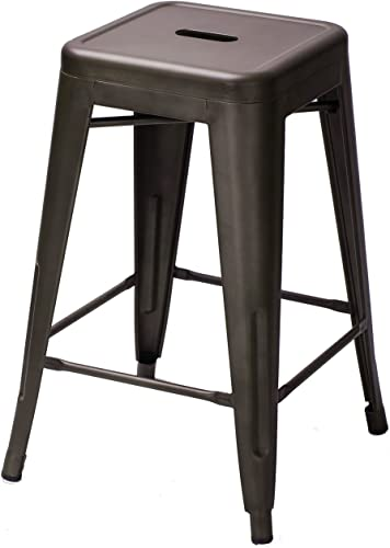 Metal Stools 24 Inches Set of Four-
